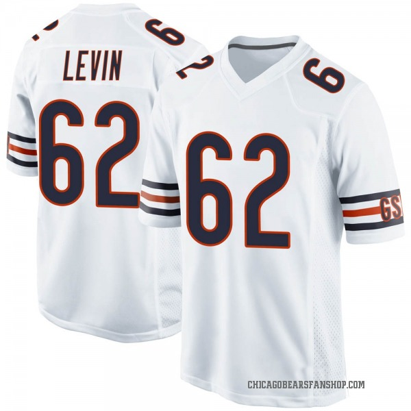 Men's Corey Levin Chicago Bears Game White Jersey