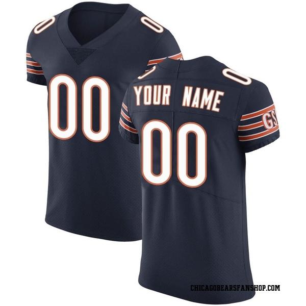 Men's Custom Chicago Bears Elite Navy Team Color Vapor Untouchable Jersey