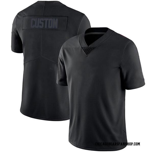 Men's Custom Chicago Bears Limited Black Impact # # Jersey