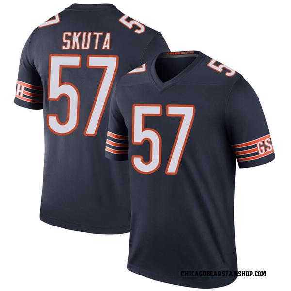 Men's Dan Skuta Chicago Bears Legend Navy Color Rush Jersey