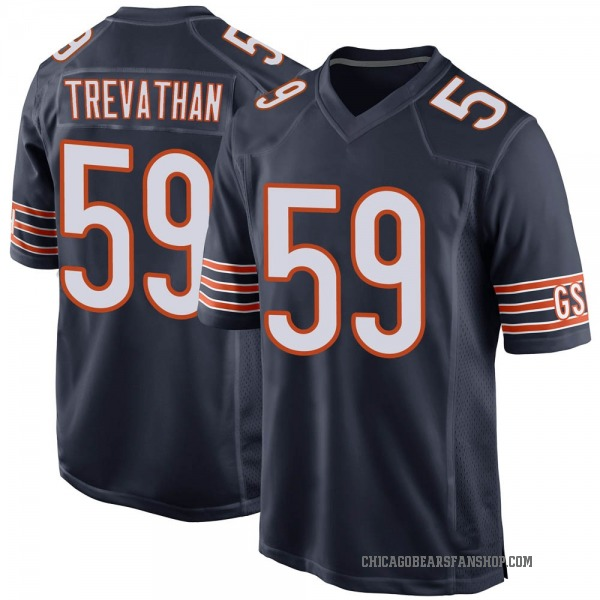 Men's Danny Trevathan Chicago Bears Game Navy Team Color Jersey