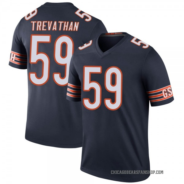 Men's Danny Trevathan Chicago Bears Legend Navy Color Rush Jersey