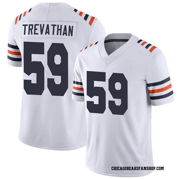 Men's Danny Trevathan Chicago Bears Limited White Alternate Classic Vapor Jersey