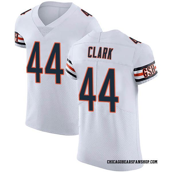 Men's Darion Clark Chicago Bears Elite White Vapor Untouchable Jersey