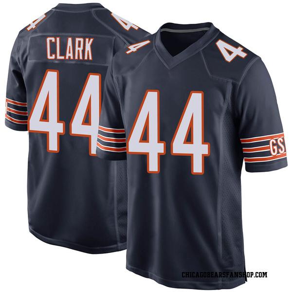 Men's Darion Clark Chicago Bears Game Navy Team Color Jersey