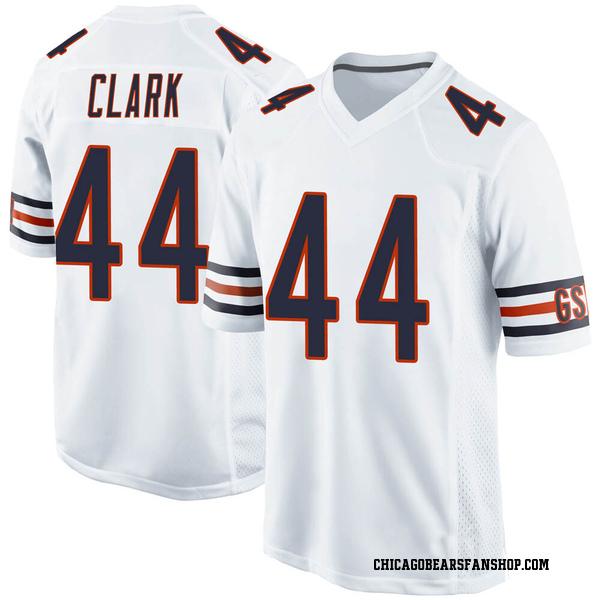 Men's Darion Clark Chicago Bears Game White Jersey