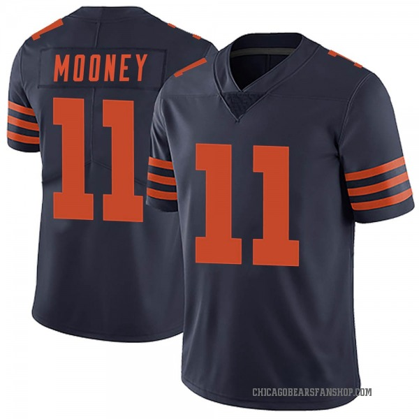 Men's Darnell Mooney Chicago Bears Limited Navy Blue Alternate Vapor Untouchable Jersey