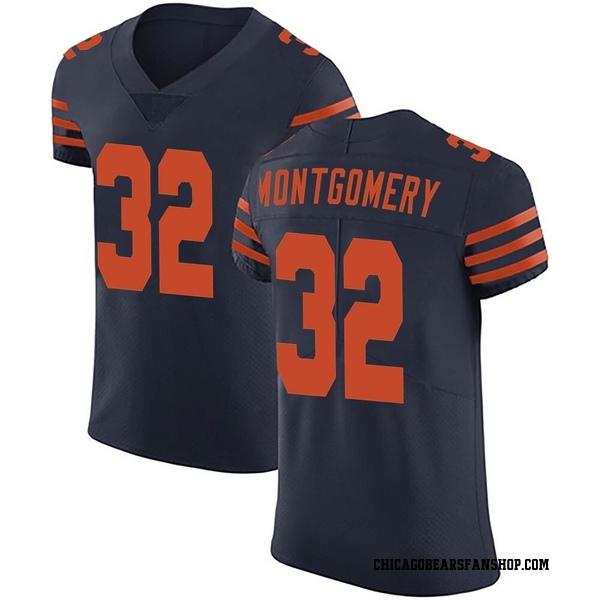 Men's David Montgomery Chicago Bears Elite Navy Blue Alternate Vapor Untouchable Jersey