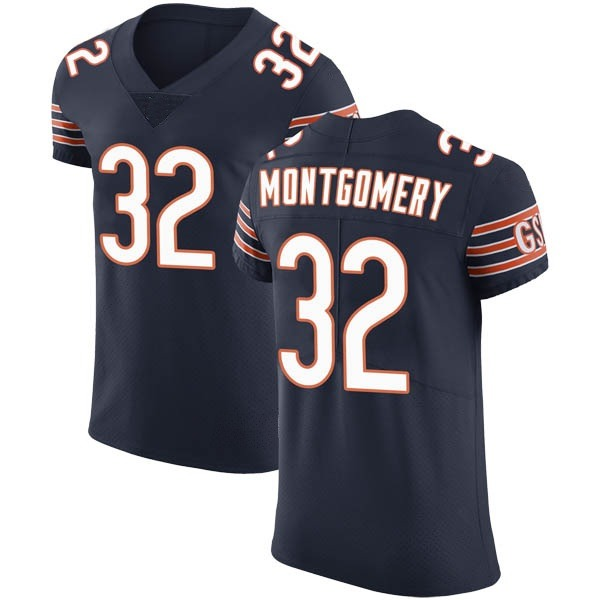 Men's David Montgomery Chicago Bears Elite Navy Team Color Vapor Untouchable Jersey