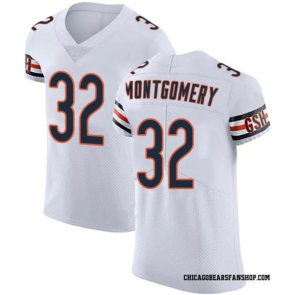 Men's David Montgomery Chicago Bears Elite White Vapor Untouchable Jersey