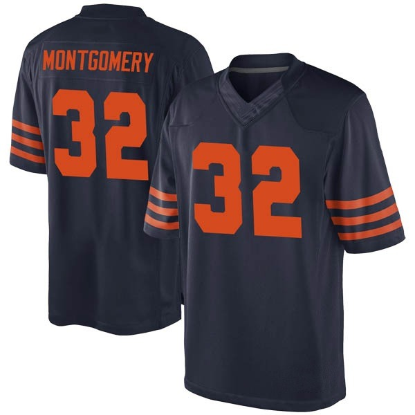 Men's David Montgomery Chicago Bears Game Navy Blue Alternate Jersey