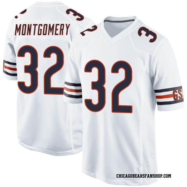 Men's David Montgomery Chicago Bears Game White Jersey
