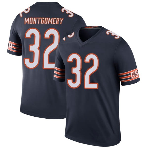 Men's David Montgomery Chicago Bears Legend Navy Color Rush Jersey