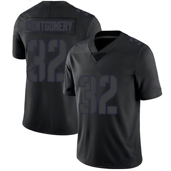 Men's David Montgomery Chicago Bears Limited Black Impact Jersey