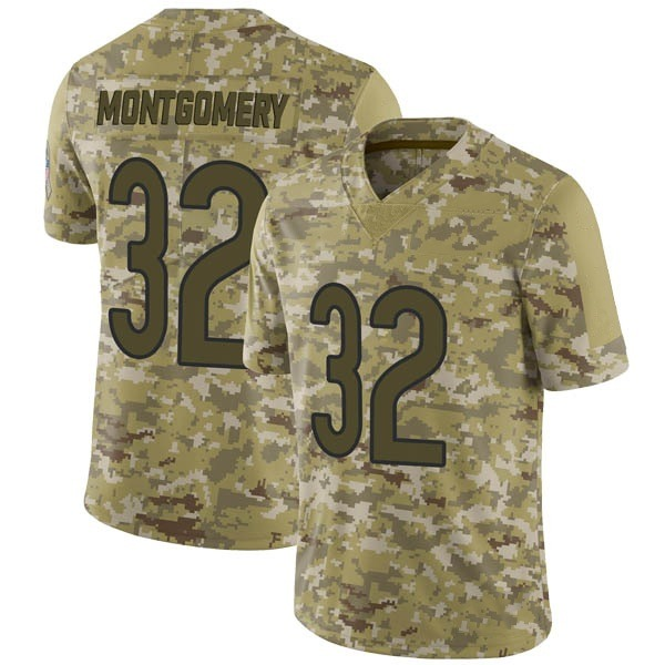 Men's David Montgomery Chicago Bears Limited Camo 2018 Salute to Service Jersey