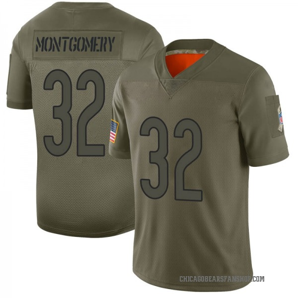 Men's David Montgomery Chicago Bears Limited Camo 2019 Salute to Service Jersey