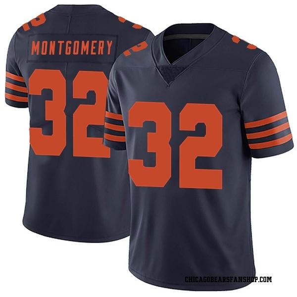 Men's David Montgomery Chicago Bears Limited Navy Blue Alternate Vapor Untouchable Jersey