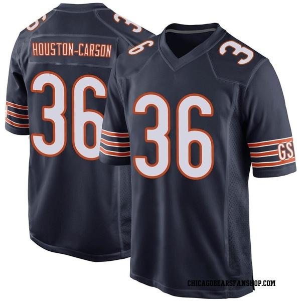 Men's DeAndre Houston-Carson Chicago Bears Game Navy Team Color Jersey