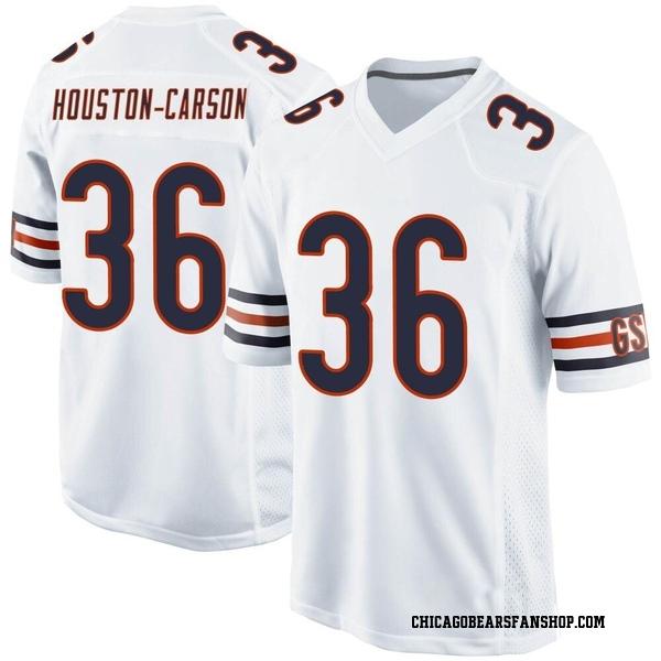 Men's DeAndre Houston-Carson Chicago Bears Game White Jersey