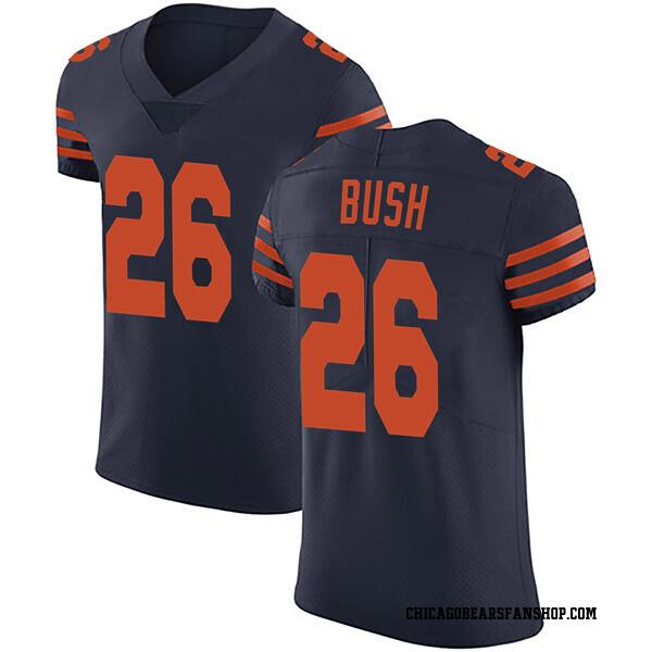 Men's Deon Bush Chicago Bears Elite Navy Blue Alternate Vapor Untouchable Jersey