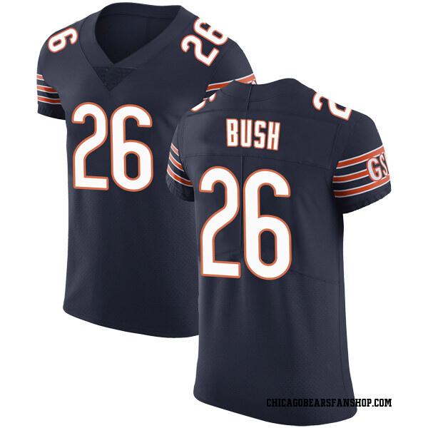 Men's Deon Bush Chicago Bears Elite Navy Team Color Vapor Untouchable Jersey