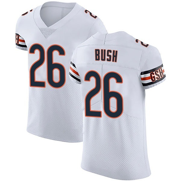 Men's Deon Bush Chicago Bears Elite White Vapor Untouchable Jersey
