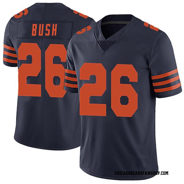 Men's Deon Bush Chicago Bears Limited Navy Blue Alternate Vapor Untouchable Jersey
