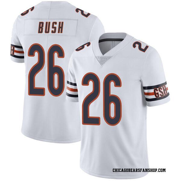 Men's Deon Bush Chicago Bears Limited White Vapor Untouchable Jersey