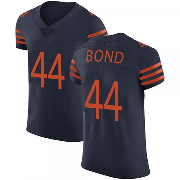 Men's Devante Bond Chicago Bears Elite Navy Blue Alternate Vapor Untouchable Jersey