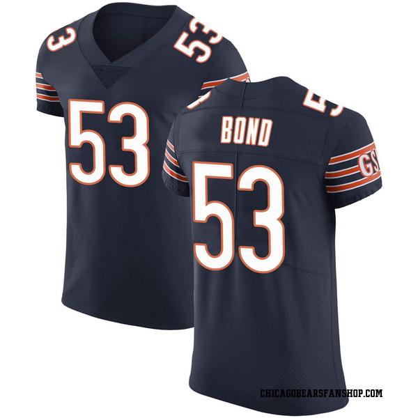 Men's Devante Bond Chicago Bears Elite Navy Team Color Vapor Untouchable Jersey