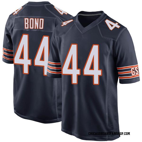 Men's Devante Bond Chicago Bears Game Navy Team Color Jersey