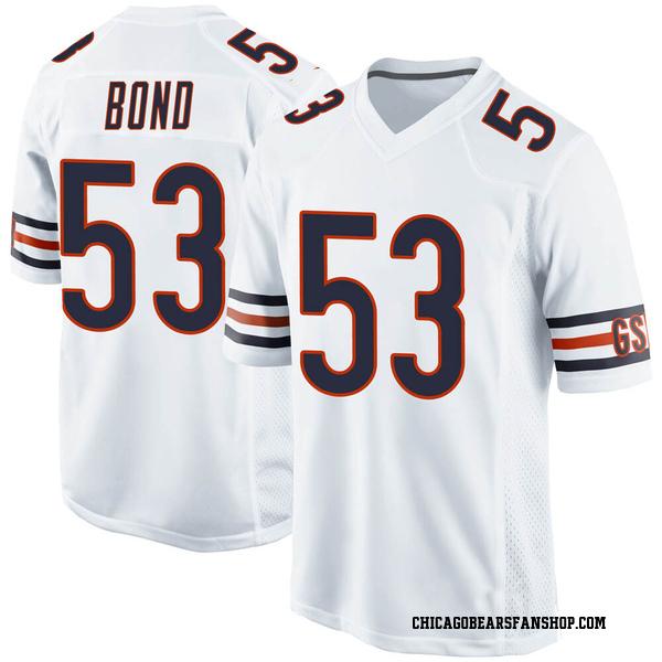 Men's Devante Bond Chicago Bears Game White 100th Season Jersey