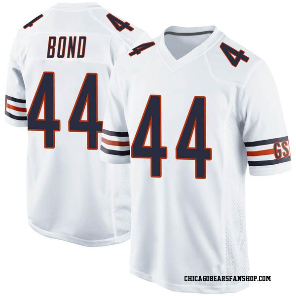 Men's Devante Bond Chicago Bears Game White Jersey