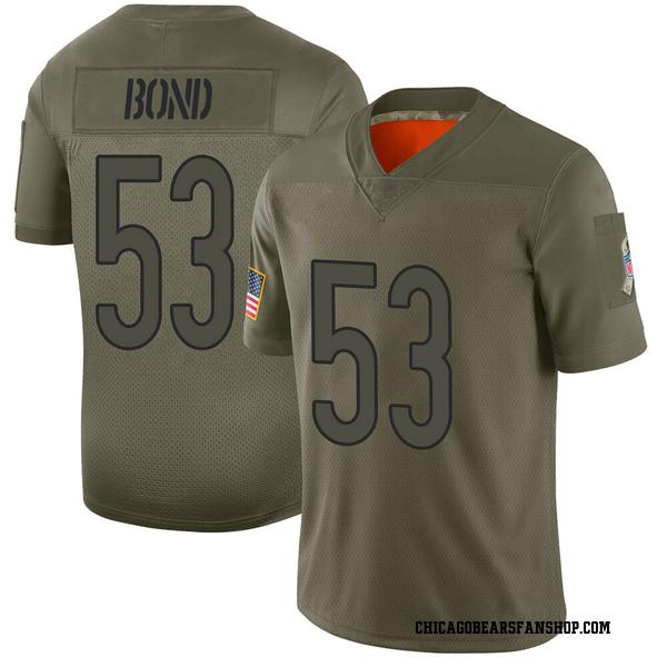 Men's Devante Bond Chicago Bears Limited Camo 2019 Salute to Service Jersey