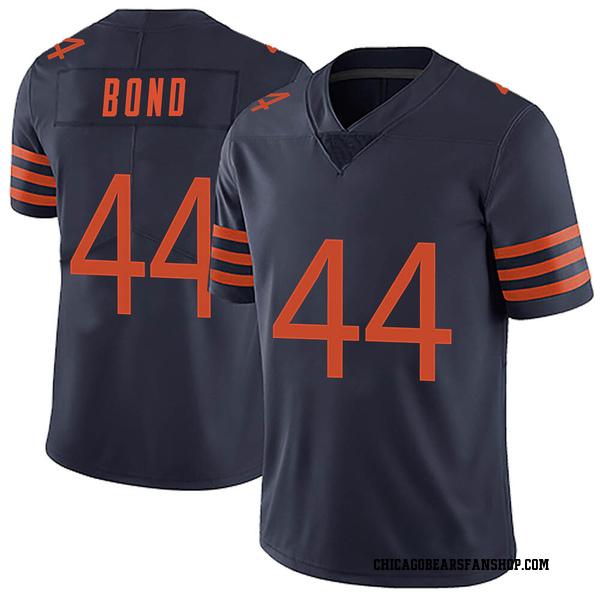 Men's Devante Bond Chicago Bears Limited Navy Blue Alternate Vapor Untouchable Jersey