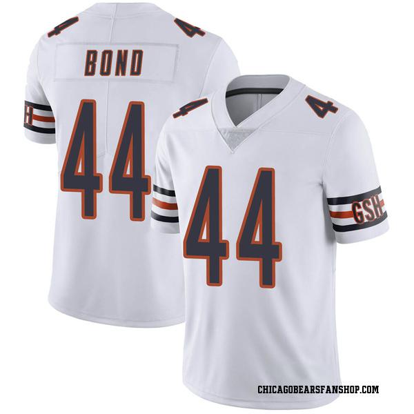 Men's Devante Bond Chicago Bears Limited White Vapor Untouchable Jersey