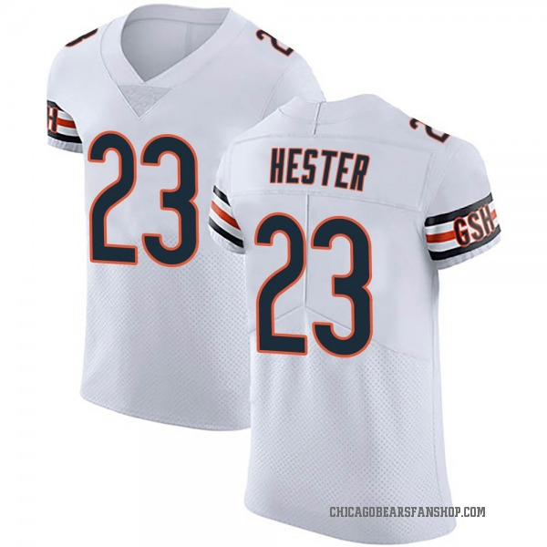 Men's Devin Hester Chicago Bears Elite White Vapor Untouchable Jersey