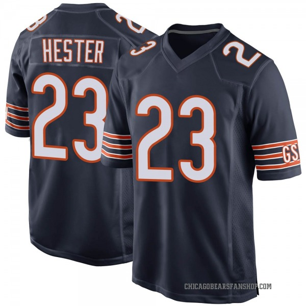 Men's Devin Hester Chicago Bears Game Navy Team Color Jersey