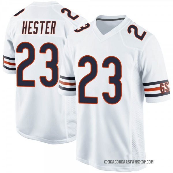Men's Devin Hester Chicago Bears Game White Jersey