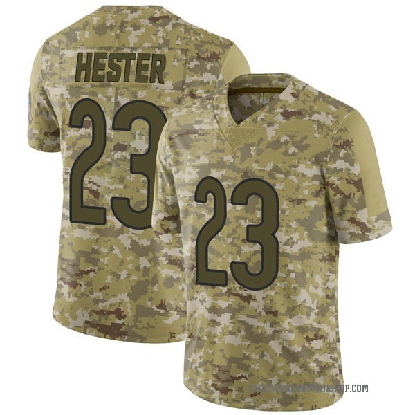 Men's Devin Hester Chicago Bears Limited Camo 2018 Salute to Service Jersey