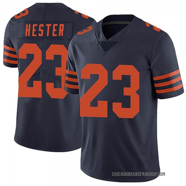 Men's Devin Hester Chicago Bears Limited Navy Blue Alternate Vapor Untouchable Jersey