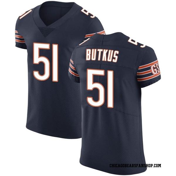 Men's Dick Butkus Chicago Bears Elite Navy Team Color Vapor Untouchable Jersey