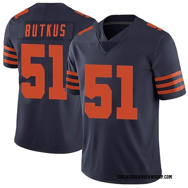 Men's Dick Butkus Chicago Bears Limited Navy Blue Alternate Vapor Untouchable Jersey