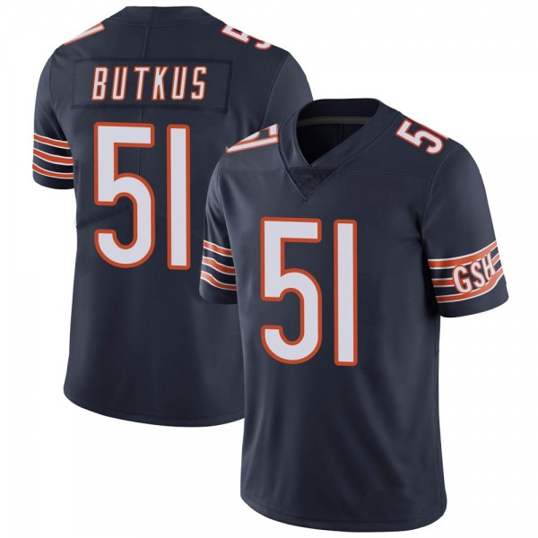 Men's Dick Butkus Chicago Bears Limited Navy Team Color Vapor Untouchable Jersey