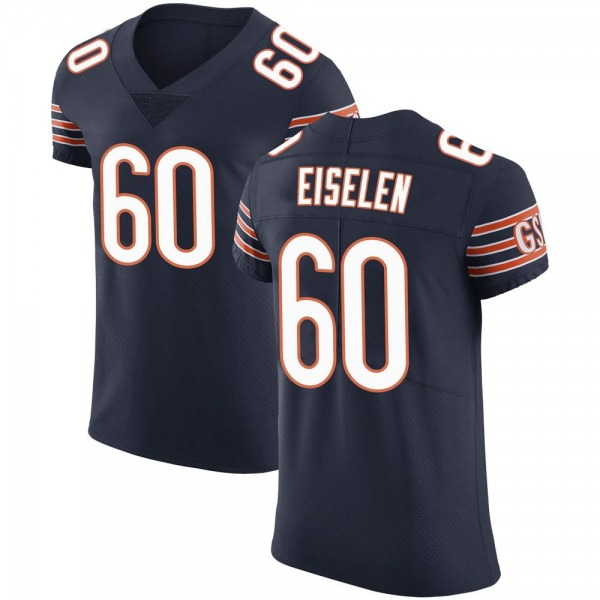 Men's Dieter Eiselen Chicago Bears Elite Navy Team Color Vapor Untouchable Jersey