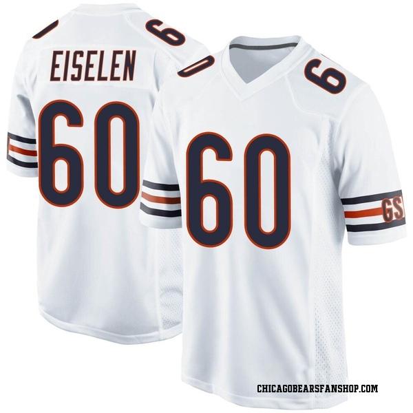 Men's Dieter Eiselen Chicago Bears Game White Jersey
