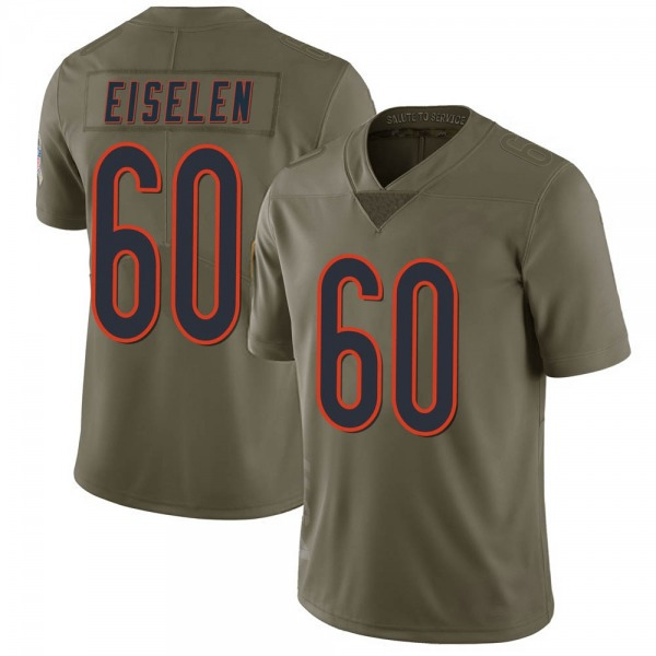 Men's Dieter Eiselen Chicago Bears Limited Green 2017 Salute to Service Jersey