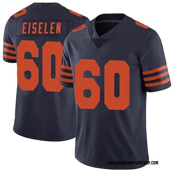 Men's Dieter Eiselen Chicago Bears Limited Navy Blue Alternate Vapor Untouchable Jersey