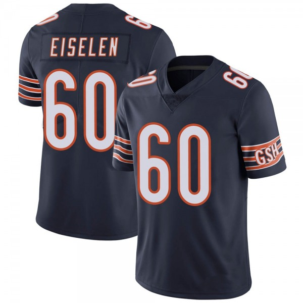 Men's Dieter Eiselen Chicago Bears Limited Navy Team Color Vapor Untouchable Jersey