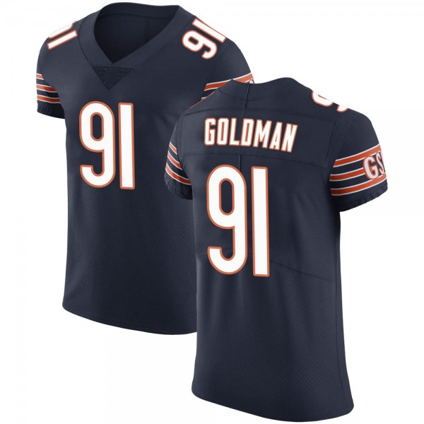 Men's Eddie Goldman Chicago Bears Elite Navy Team Color Vapor Untouchable Jersey